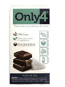 Chocolate com Açúcar de Coco - Flor de Sal - 80g Only4