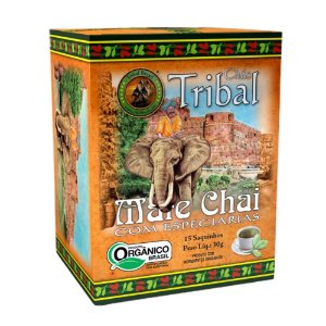 Chá Erva Mate Chai - 15 sachês - Tribal Brasil