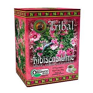 Chá Erva Mate Hibiscus Lime - 15 sachês - Tribal Brasil