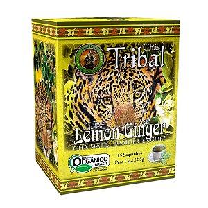 Chá Erva Mate Lemon Ginger - 15 sachês - Tribal Brasil