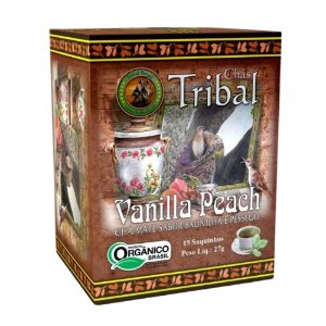 Chá Erva Mate Vanilla Peach - 15 sachês - Tribal Brasil