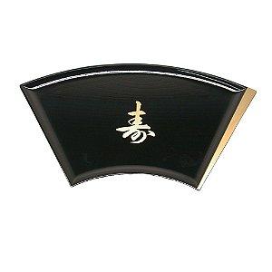 Bandeja Sushi Sashimi Tray Leque Preto com Letra (701-K2)