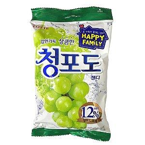 Bala Coreana de Uva Verde 153g Lotte