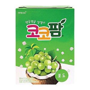 Bebida Suco de Uva com Pedaços de Coco Haitai Coco Palm - Caixa com 12 latas