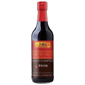 Molho de Soja Escuro Sabor Cogumelo (Mushroom Flavoured Dark Soy Sauce) 500ml Lee Kum Kee