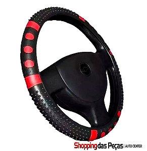 Capa De Volante Carro Preto / Vermelho Antiderrapante