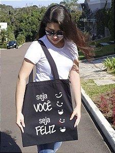 """Ecobag """"Positive Life"""" - Várias estampas"""