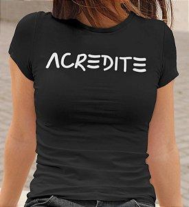 Acredite| t-shirt & babylook