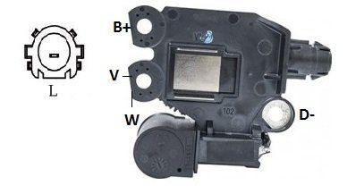 Regulador de Voltagem Toyota Etios Sistema Valeo IK5492