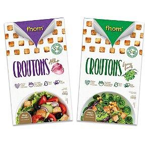 2 Croutons, Alho e Ervas Finas