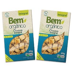 2 Crouton Bem Orgânico Integral 50g