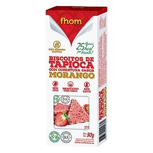 Biscoito de Tapioca Morango 30g - 2 unidades