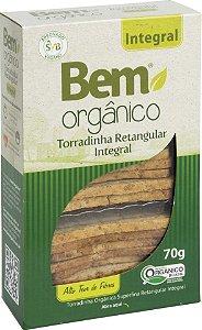 12 Torradas Bem Orgânico Integral Retangular 65g DESCONTO 10%