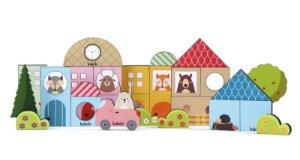 Brinquedo Educativo Baby Construtor - Blocos de Empilhar