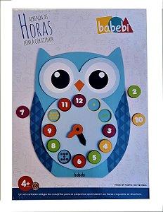 Brinquedos educativos 4 anos - relógio pedagógico - coruja