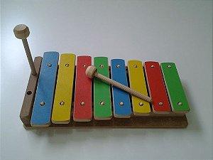 Brinquedo Musical Infantil de Madeira - Xilofone/Lira