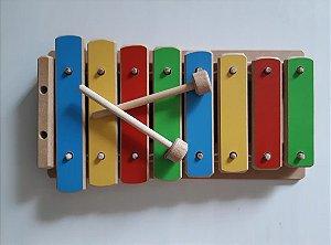 Brinquedo Musical Infantil de Madeira - Xilofone Infantil