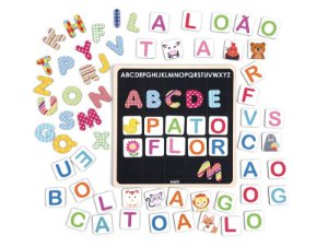 Brinquedos educativos 4 anos - mini quadro magnético alfabeto
