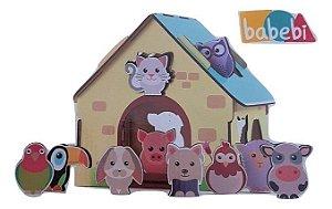 Jogo de encaixe - Passa figuras animais da fazendinha