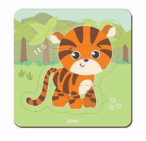 Quebra-cabeça de animais de 3 peças - baby tigre