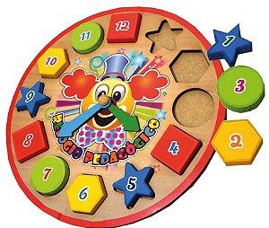 Relógio Pedagógico Palhacinho - Brinquedos educativos 3 anos