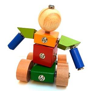 Brinquedos educativos 3 anos - robô - click formas 2