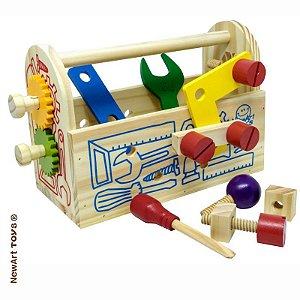Maleta de Ferramentas Infantil - Brinquedo de Madeira