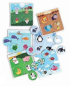 Brinquedo Educativo Bingo Infantil dos Animais