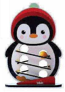 Brinquedo educativo 1 ano - Rola bolinha com o pinguim