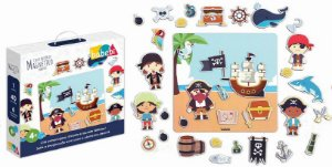 Brinquedos educativos 4 anos - Mini quadro magnético pirata