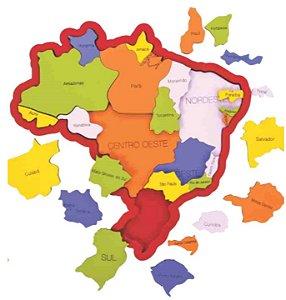 Brinquedo educativo - Quebra-cabeça mapa do Brasil