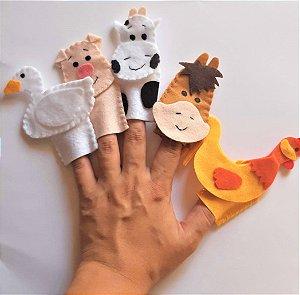 Brinquedo Educativo Fantoche De Dedo - Dedoches Fazendinha