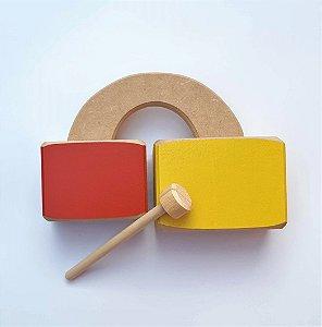 Brinquedo Musical Infantil de Madeira - Bloquinho Sonoro