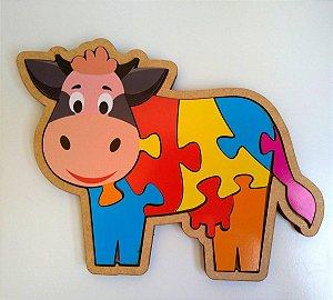 Quebra-cabeça infantil de animais - Vaquinha