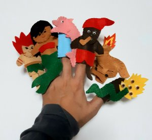 Brinquedo Educativo Fantoche De Dedo - Dedoches Folclore Brasileiro