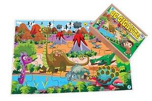 Quebra-cabeça Infantil Gigante Dinossauros - 96 Peças