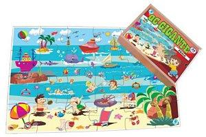 Quebra-Cabeça Infantil Gigante Praia - 96 Peças