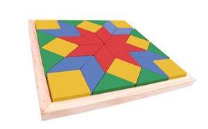 Brinquedo Educativo 3 anos - Mosaico em Madeira