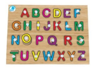 Quebra-cabeça com pinos - Quebra-cabeça Alfabetização