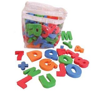 Alfabeto, números e sinais em EVA – brinquedo educativo