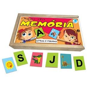 Brinquedo educativo 4 anos - Jogo da Memória Letras e Figuras