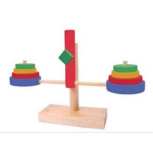 Brinquedo educativo 3 anos - Balança de Madeira