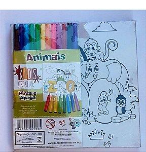 Tela para Pintura Infantil - Tela de Pintar e Apagar Animais