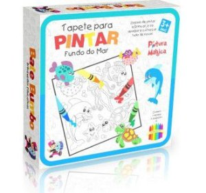 Tapete Pinta e Apaga - Fundo do Mar - Brinquedo Educativo 3 anos