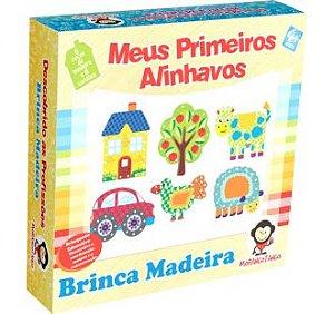 Brinquedo para Coordenação Motora Meus Primeiros Alinhavos de Madeira
