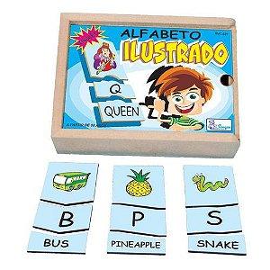 Alfabeto em Inglês  Ilustrado - Brinquedo Pedagógico