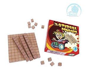 Brinquedo Pedagógico - Material Dourado de Madeira