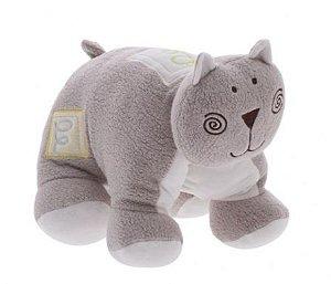Bichinho de pelúcia para bebê - Gato travesseiro