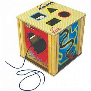 Brinquedo Educativo 3 anos - Cubo de Atividades de Madeira
