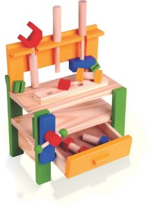 Bancada de Ferramentas Infantil - Brinquedo de Madeira